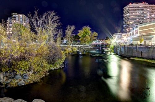 Wingfield Park on the Truckee River in Reno, NV